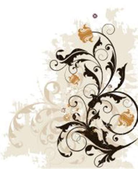 gambar vektor coreldraw floral ornamen vector