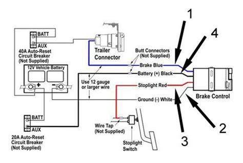 diagram of a brake controller intallation trailer