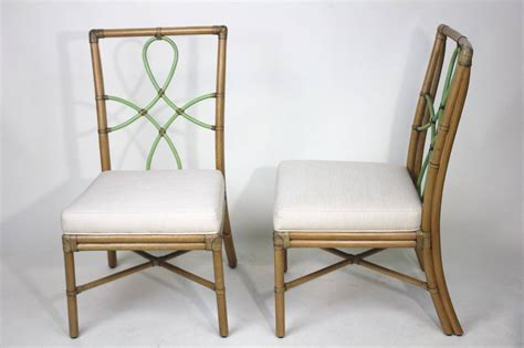mcguire pair of bamboo side chairs ribbon back for