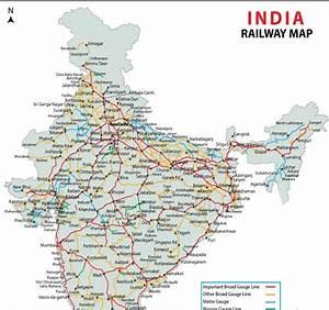 Rail Map India India Railways Map
