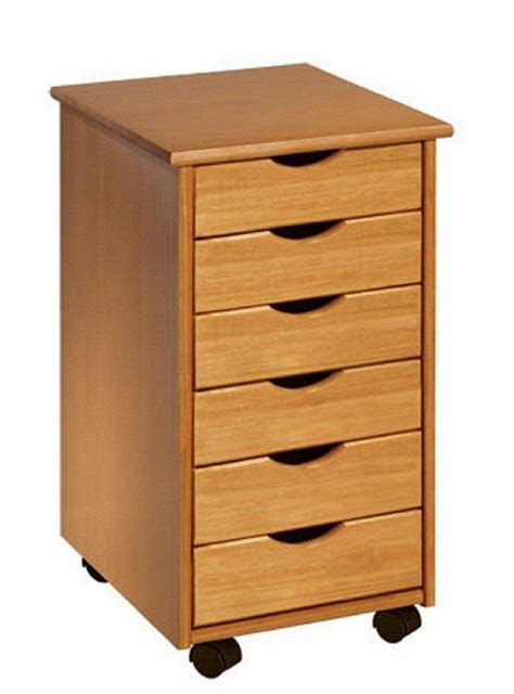 Wickelkommode Mit Rollen by Rolling Office Cart 6 Drawers Crafts Solid Wood Sewing