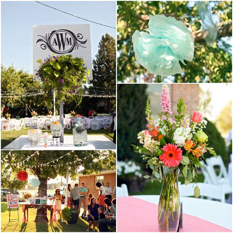 Decorating Backyard Wedding by Bright And Colorful Backyard Wedding Rustic Wedding Chic