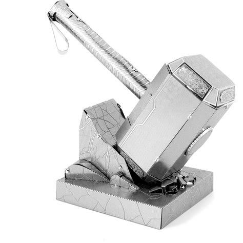 marvel avengers mjolnir metal earth construction kit iwoot