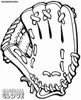 Baseball Glove Template Coloring Templates sketch template