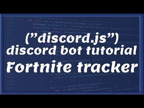 fortnite tracker discord bot development tutorial