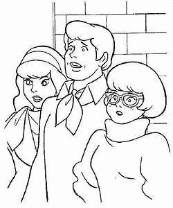 shaggy coloring page - fred and daphne free coloring pages