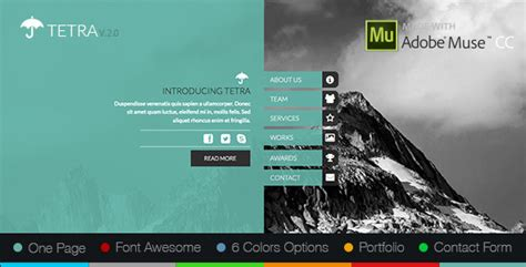 12 Adobe Muse Templates To 12 Adobe Muse Templates To