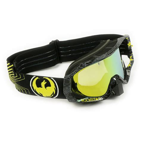 dragon motocross goggles dragon new mx vendetta rockstar energy black gold tinted