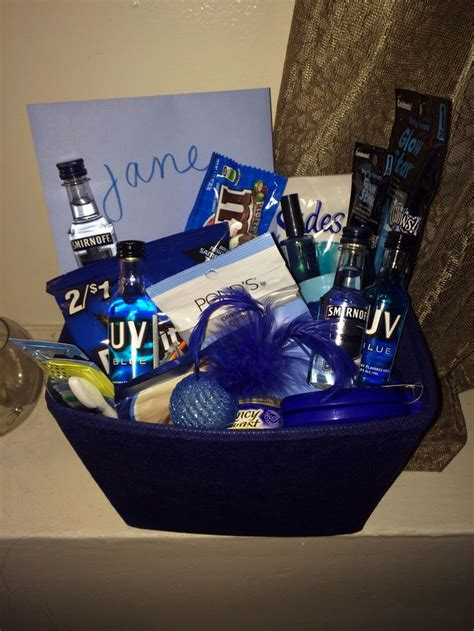cat lover 2 quot blue quot themed gift basket for my cat