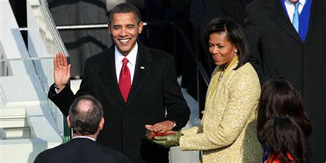 Obama Swear In A Look Ath by Obama Is Sworn In As The 44th President The New York Times