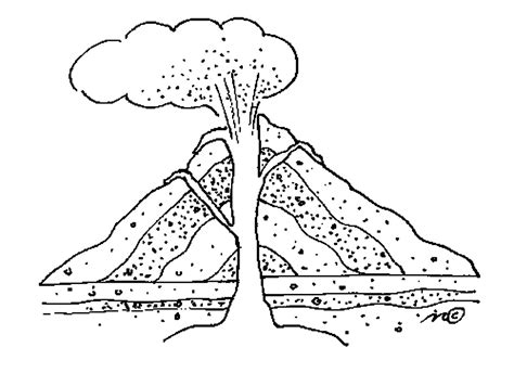 free coloring pages of pompeii volcano