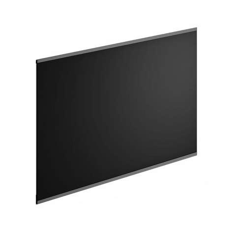 pose hotte cuisine crédence verre noir h 45 cm x l 60 cm leroy merlin
