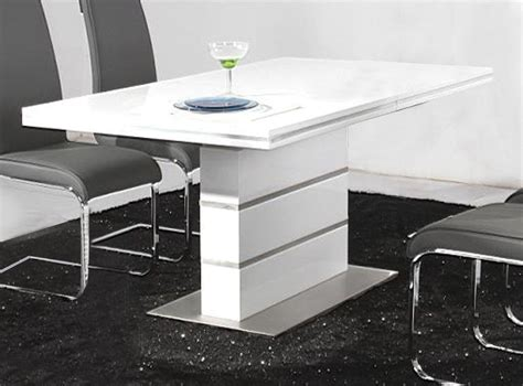 high glass dining table heartlands dolores dining table in high gloss white blue