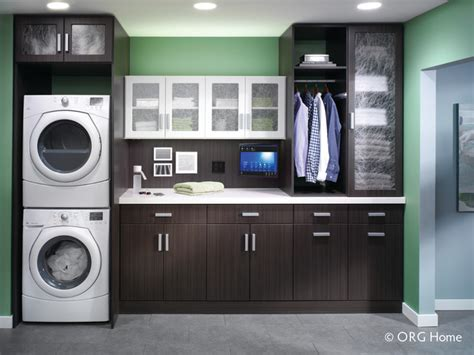 beautiful  functional laundry room   small space