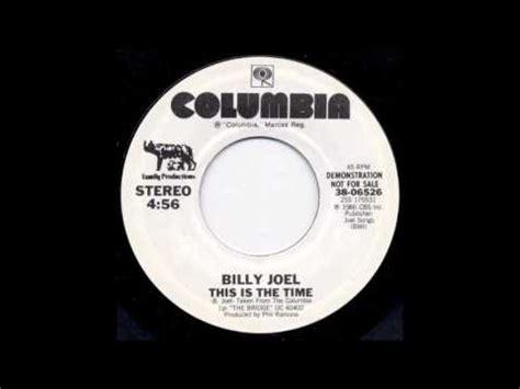 billy joel    time demo version  youtube