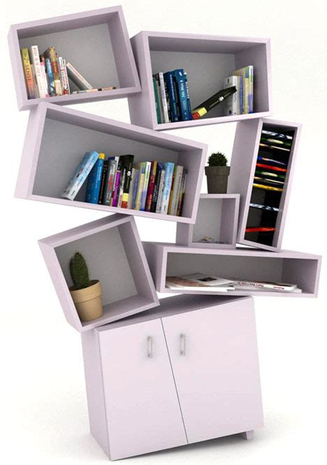 postmodern reading  deconstructivist bookcase designs