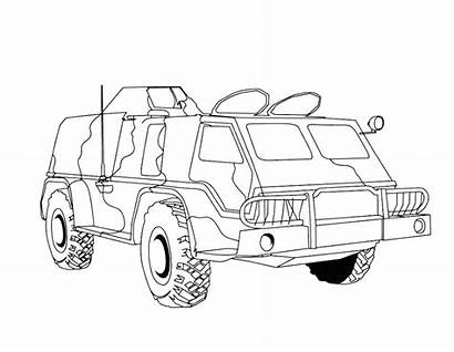 Coloring Pages Army Military Gun Truck Tank