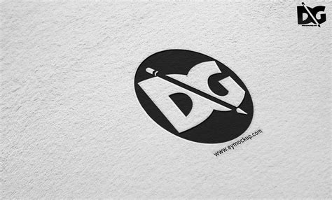 Free for personal and commercial use. Rough Paper PSD Logo Mockups PSD Mockup   Free Mockup