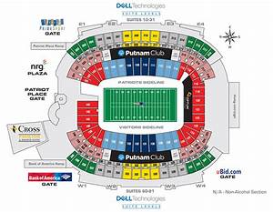 Redskins Field Seating Chart Nfl Stadium Seating Charts Stadiums Of Pro Football