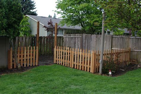 back yard fences homelifescience backyard garden fence in progress