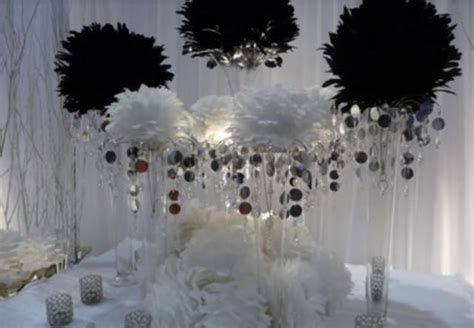 black and white wedding reception table decoration ideas