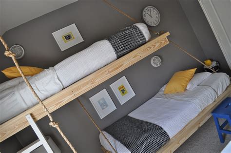 rope bunk bed plans   extra tall loft bed plans