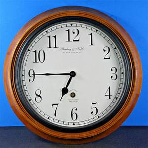 Sterling noble clock company wooden wall clock for Sterling noble clock company wooden wall clock