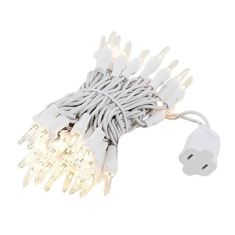 clear wire christmas lights clear christmas mini light set 50 light white wire 11 feet