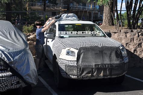 ford bronco mule spotted  everest body