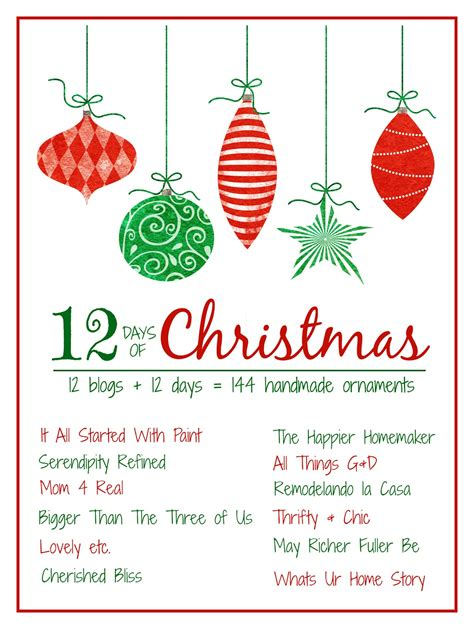 12 days of christmas decorations simple bead ornament