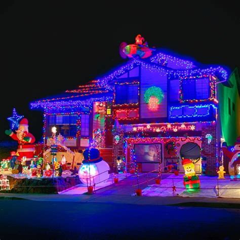 outdoor christmas light show 50 spectacular home christmas lights displays style estate