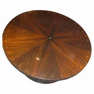 Custom Ruhlmann style Round Coffee Table