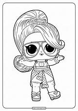 Lol Coloring Pages Doll Printable Twang Coloringoo Whatsapp Tweet Email Barbie sketch template