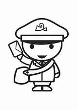 Coloring Pages Postman Sheets Toddlers Google Activities Mailman Printable Help Clip Preschool Brown sketch template