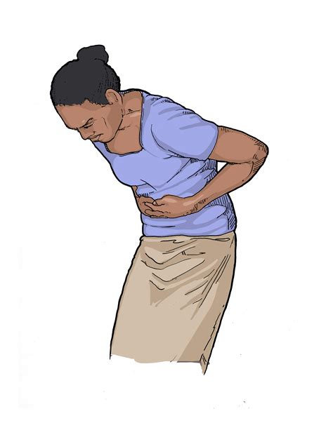 Stomach Pain Clipart 11