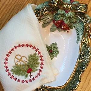 Christmas monogram embroidery holiday alphabet ornament