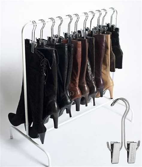 boot hangers for closet 14 great ways to your shoes living in a shoebox