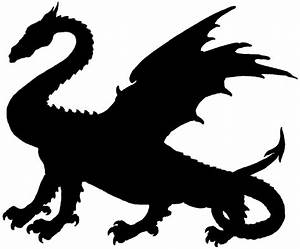 Chinese Dragons Silhouette - ClipArt Best