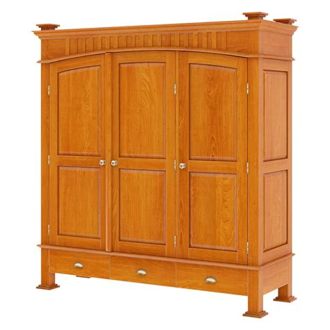 Wood Armoire by Longport Traditional Style Mahogany Wood 3 Door Large