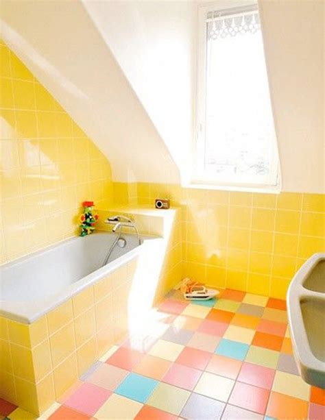tile floor yellowing 34 yellow bathroom floor tile ideas and pictures