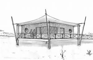 Plan maison en bois sur pilotis for Plan maison bois sur pilotis