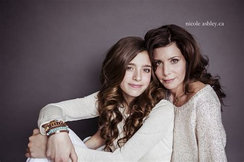 offer stylized mother daughter portrait