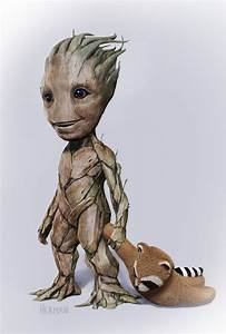Adorable Baby Groot Concept Art Created for GUARDIANS OF ...