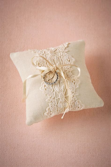 lacework ring pillow from bhldn flower girls ring