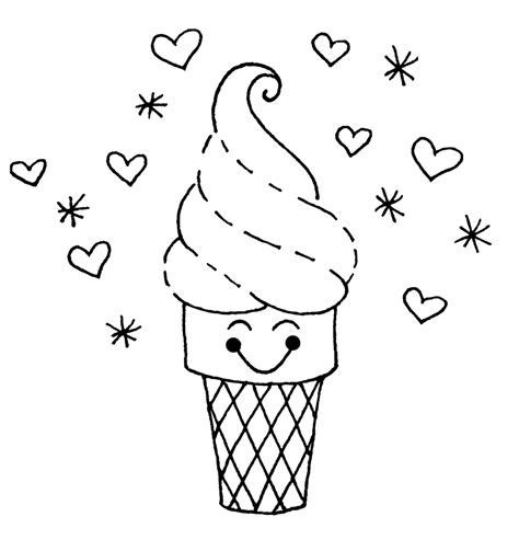 ice cream cone coloring pages  coloring pages