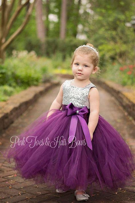 flower girl dress birthday dress plum flower girl dress