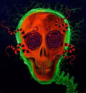 Trippy Psychedelic Skull Art