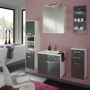 Badezimmer Grau Weiß : malaga badezimmer set 2 5 teilig grau wei waschkombination 2 tlg waschtisch und ~ Markanthonyermac.com Haus und Dekorationen