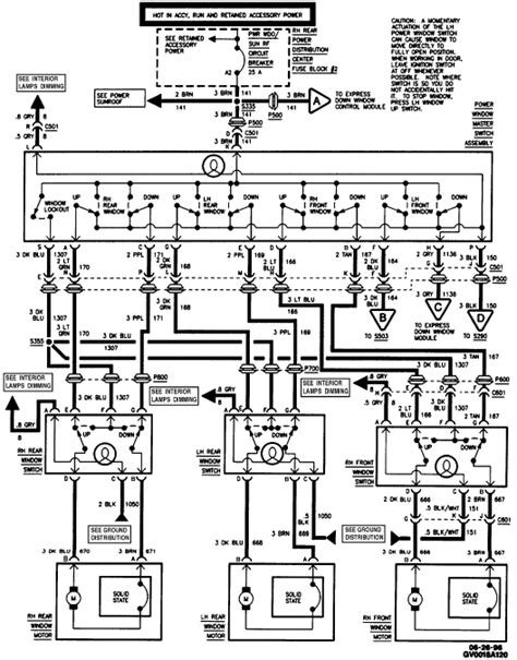 Alero Power Window Wiring Diagram