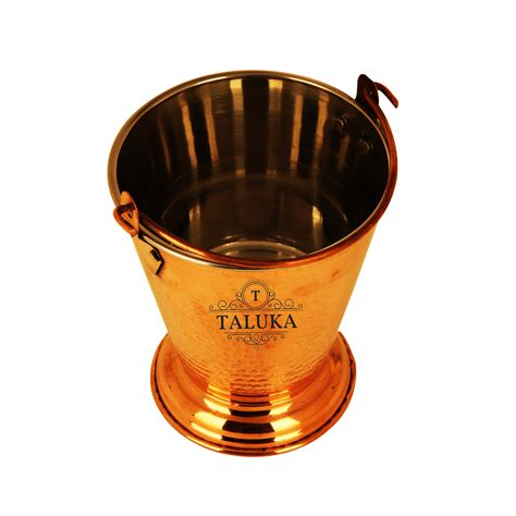 buy taluka    inches approx  steel copper bucket